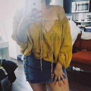 Free People marigold blouse